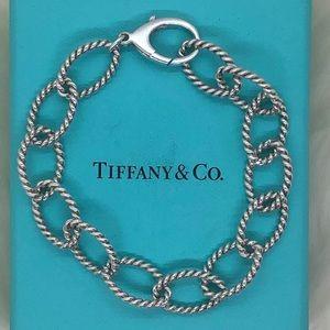 "Tiffany & Co. Twisted Link Bracelet 8.25"""